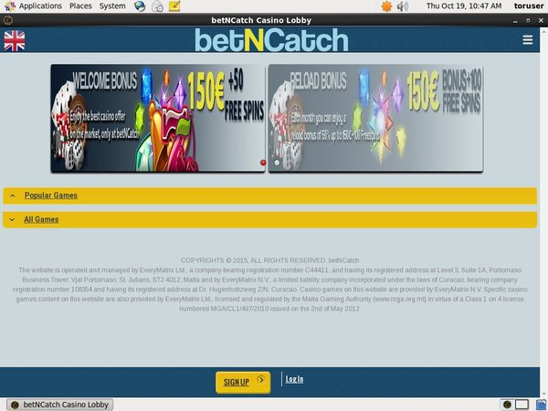 Bet N Catch Registar