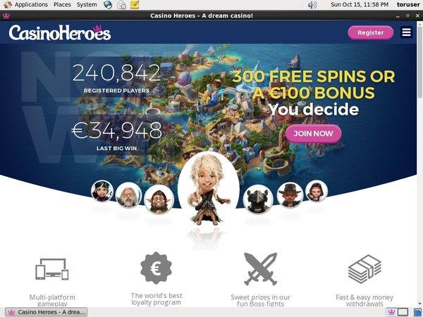 Casino Heroes Dostac Bonus