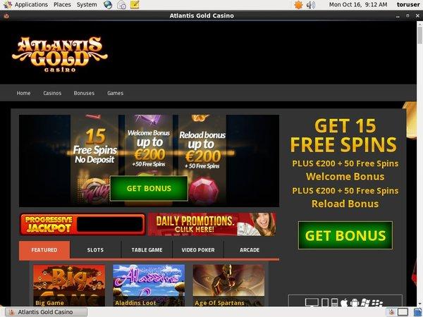 Free Bet Atlantisgold