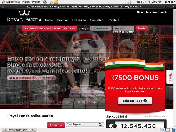 Free Spins Royal Panda