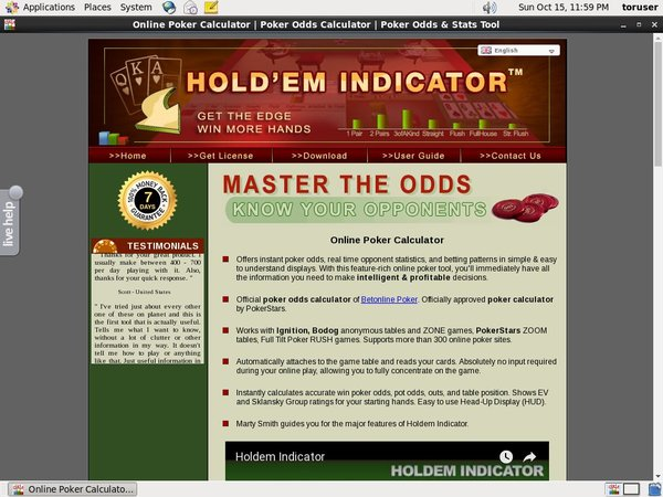 Holdem Indicator Golf