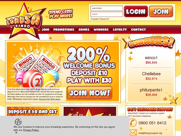 Loadsa Bingo Join Promo