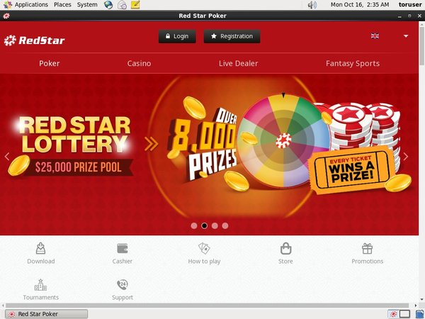 Login To Red Star Poker
