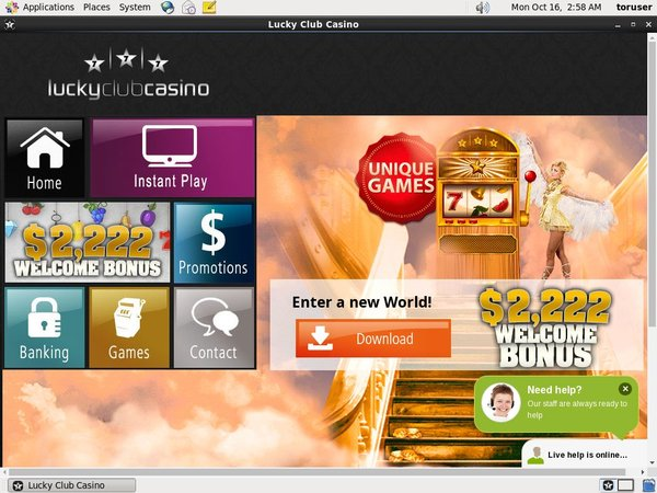 Lucky Club Casino Neukundenbonus
