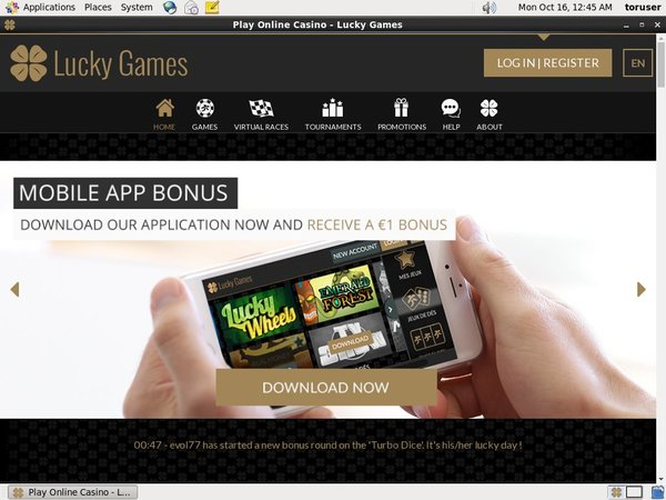 Lucky Games Start Bonus