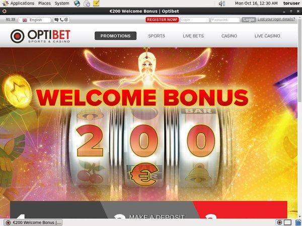 Optibet Free Bet Code