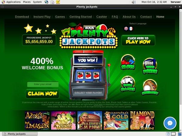 Plentyjackpots Bonus Slots