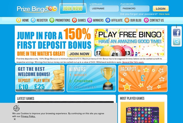 Prize Bingo New Account