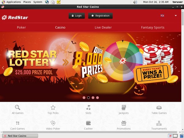 Red Star Slots Signup