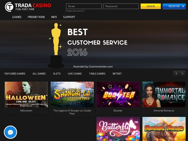 Trada Casino Welcome Bonus No Deposit