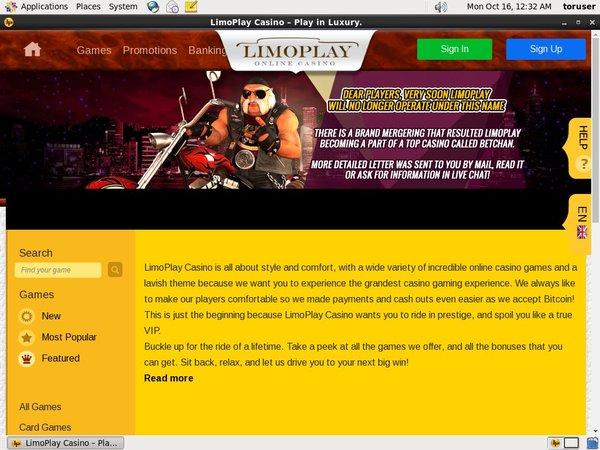 Limoplay Welcome Bonus Package
