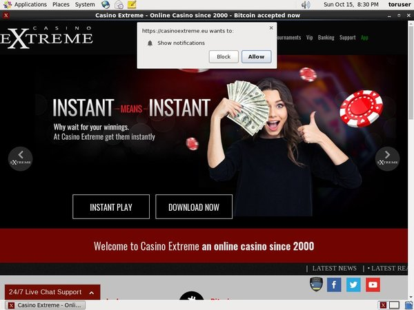 Casino Extreme Welcome Bonuses