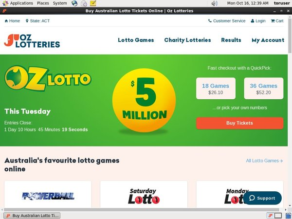 Oz Lotteries Deposit Money