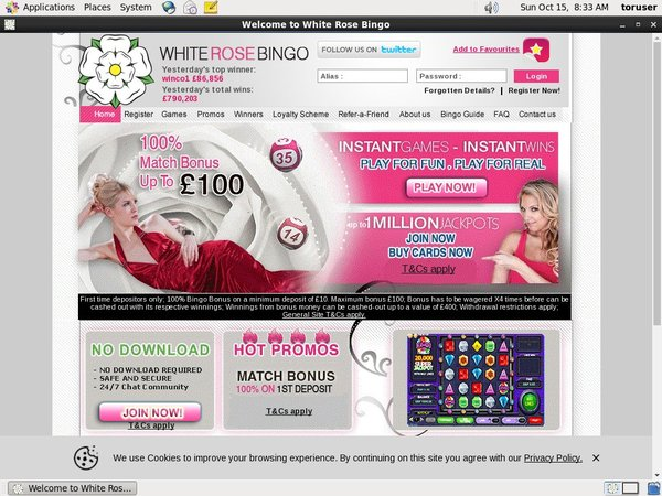 White Rose Bingo Refer A Friend