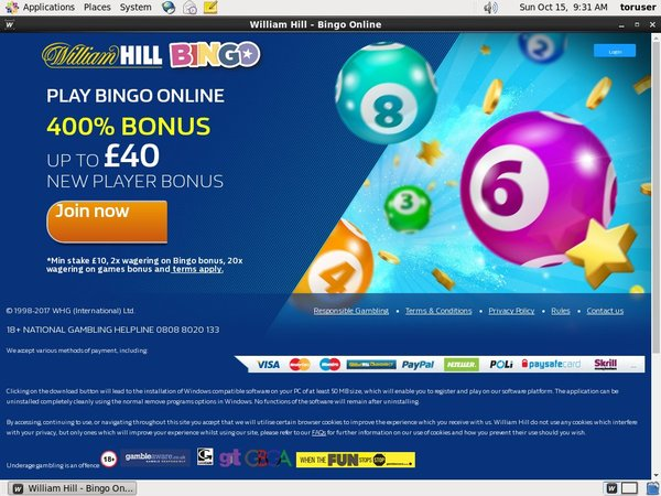 William Hill Bingo Flexepin