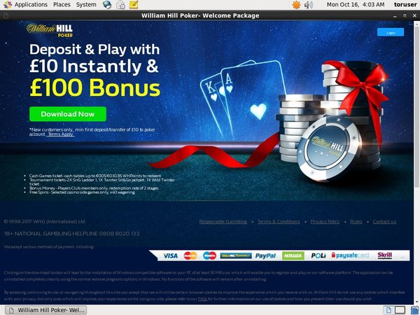 Create Williamhill Account