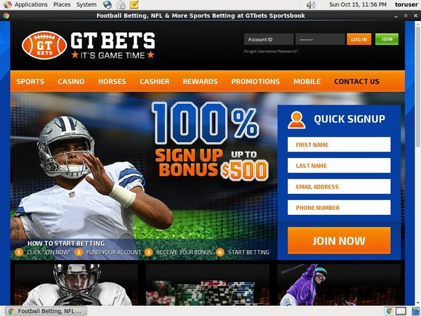 GT Bets College Football Canada