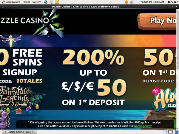 Offer Dazzle Casino