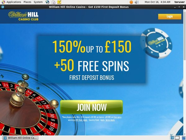 William Hill Club Free Spin Bonus
