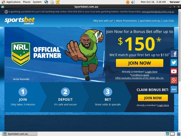 SportsBet.com.au Top Gambling Websites