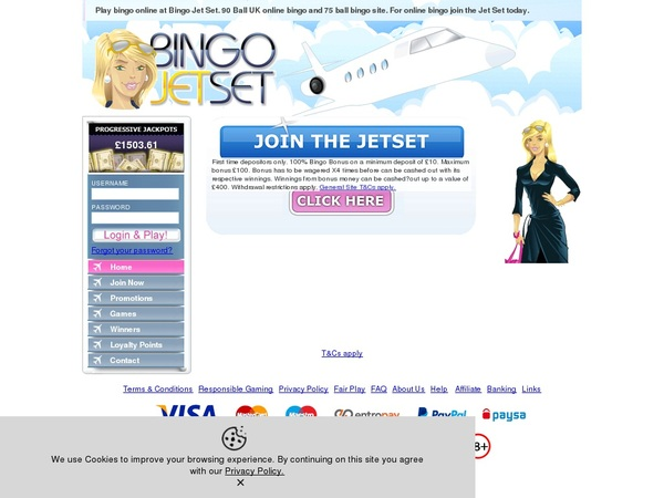 Bingo Jetset Casino Reviews