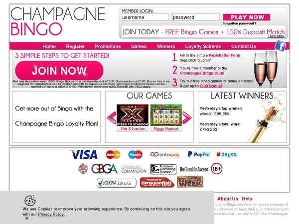 Champagne Bingo Besten Casino Bonus
