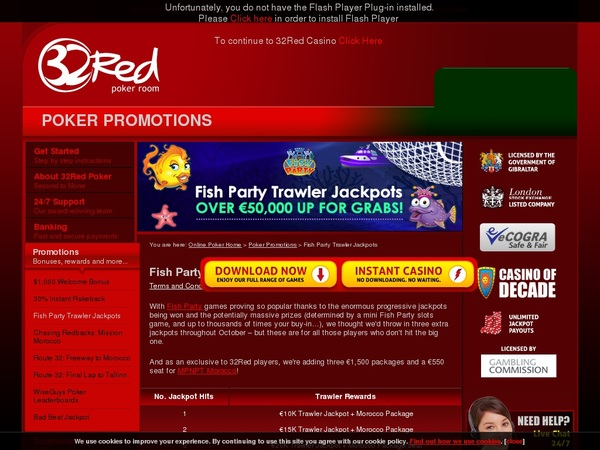 32 Red Poker Sports