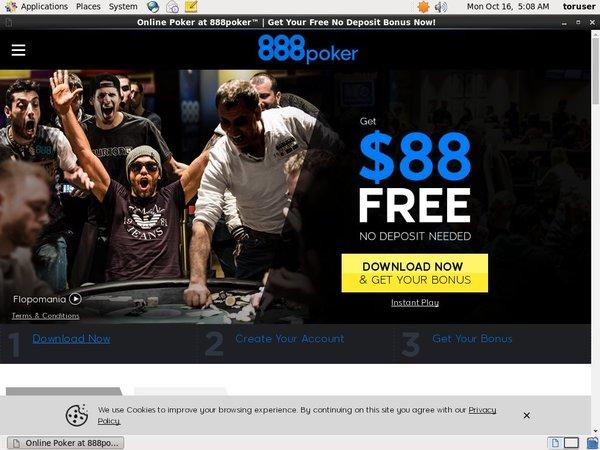 888 Poker Reload Bonus