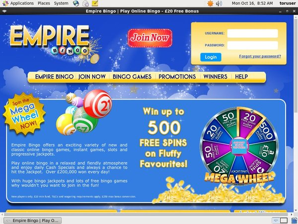 Empire Bingo Sign Up Deal