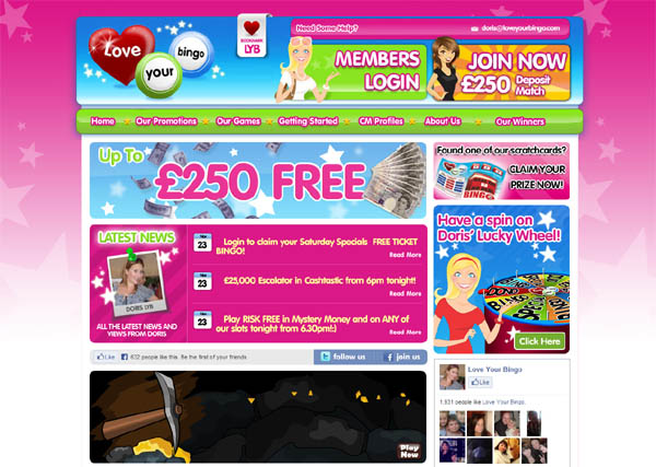 Loveyourbingo No Deposit Codes