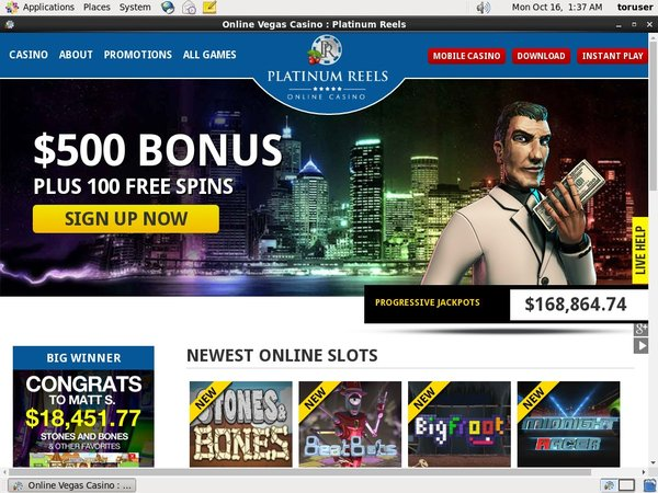 Platinumreels No Deposit Required