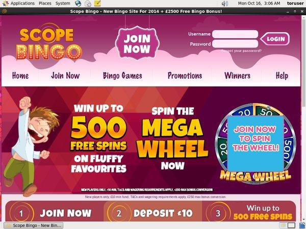 Scope Bingo Join Promo