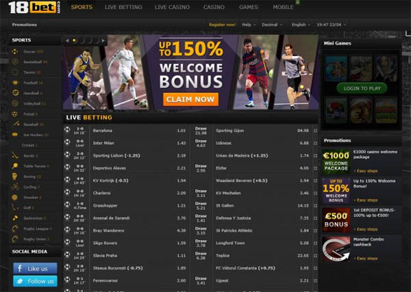 18 Bet Sign Up Promo