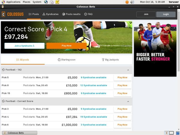 Colossusbets Pay Vision