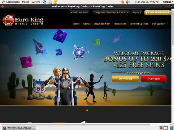 Login To Euro King Casino