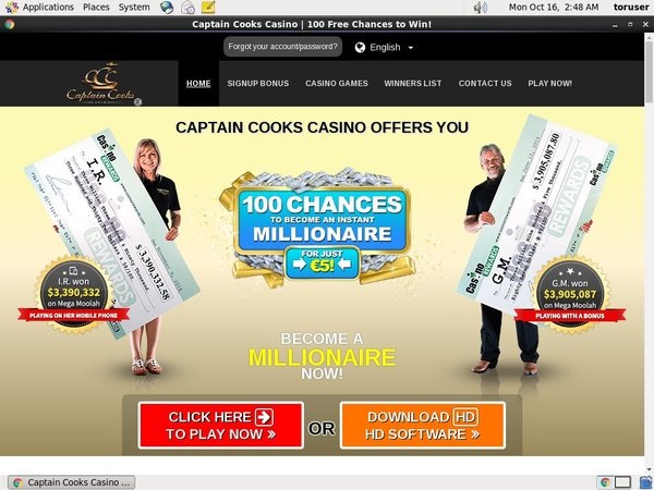 Captaincookscasino With Gift Card