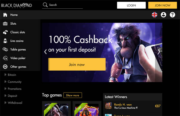 Claim Black Diamond Casino Bonus