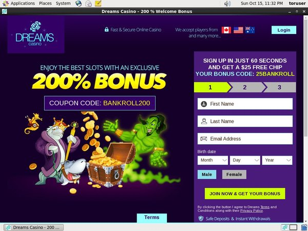 Dreamscasino Maximum Bet