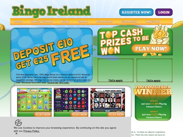 Bingo Ireland E Transfer