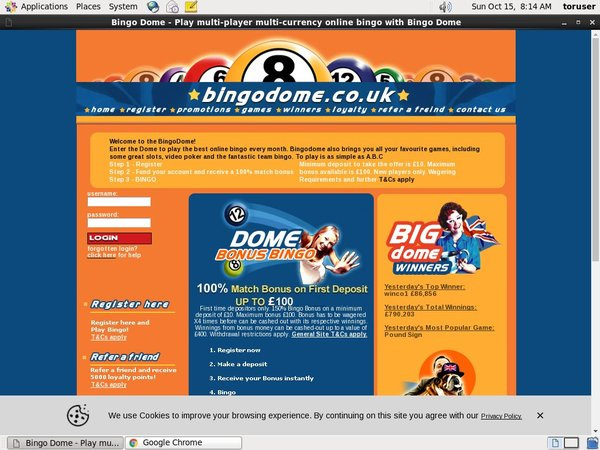 Bingodome No Deposit Required