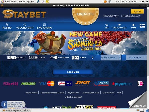 Staybet Finland Free Account