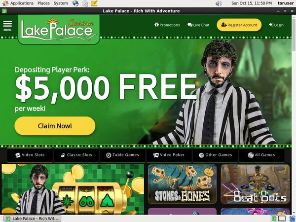Free Lake Palace Spins