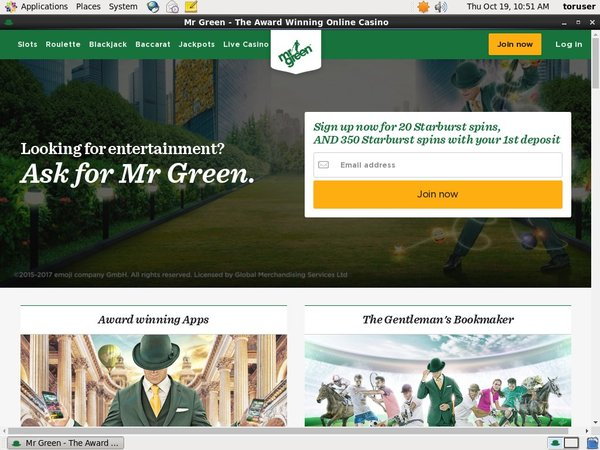 Mr Green E-wallet