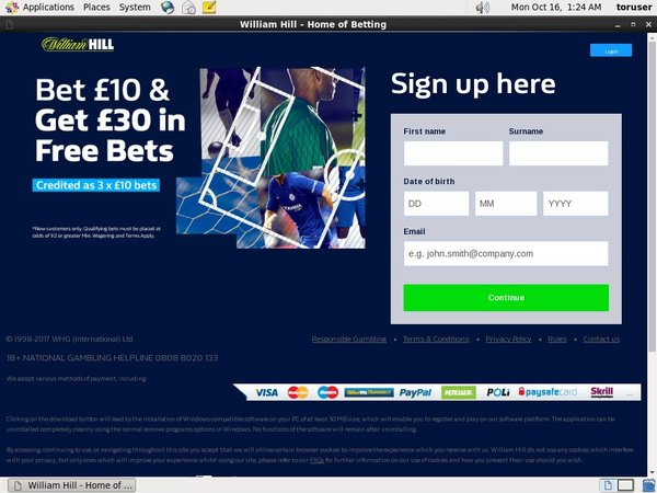Williamhill No Deposit Needed