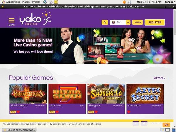 Yako Casino Comps