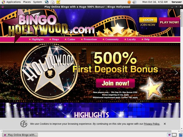 Bingohollywood Casino Bonus Uk