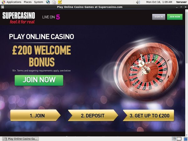 Supercasino High Roller Bonus