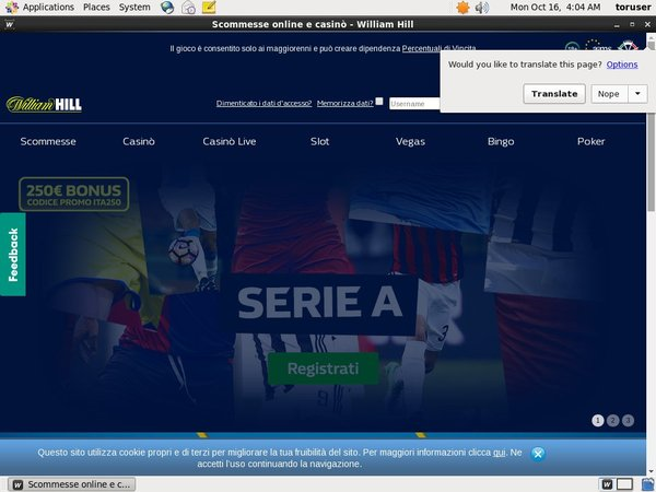 William Hill IT Freebet