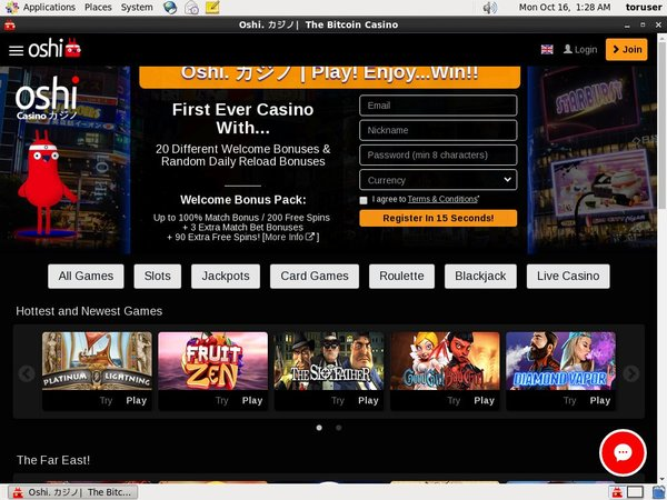 Oshi Casino Instant Play