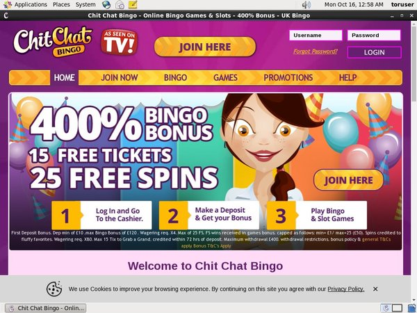 Chitchatbingo Pay By Options